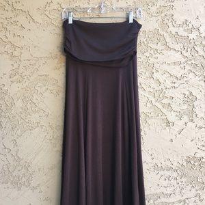 TWENTY ONE Maxi Skirt Long Ankle Length Brown L